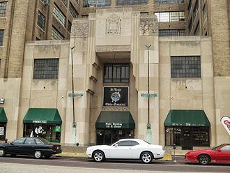 St. Louis Globe-Democrat - The entrance to the Globe-Democrat building in 2012.