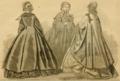 Godey's Lady's Book (1861) - NEDORA, GARIBALDI & IMOGEN DRESSES.png
