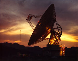 NASA Deep Space Network - 70 m antenna at Goldstone, California.