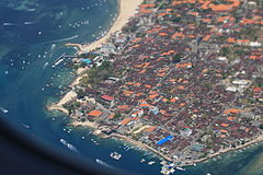 Goodbye Bali! wonderful place. Denpasar, Bali, viewed from the plane after take-off. (8295463423).jpg