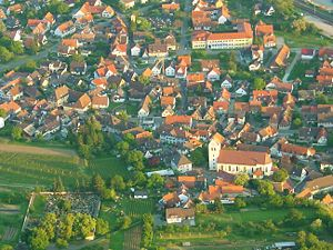 Gottenheim - Aerial view