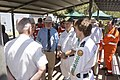 Governor-General of Australia, Quentin Bryce speaks with VRA volunteers.jpg
