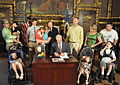 Governor Dayton holding a signing ceremony for Leos Law on Mitochondrial Disease Awareness.jpg