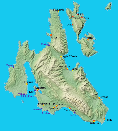 Gr Ionian Island Cephalonia map italian.png