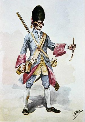 Portuguese Army - Portuguese grenadier of the time of the Seven Years' War