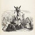 Grandville - Fables de La Fontaine - 05-14 . L'Âne portant des reliques.jpg