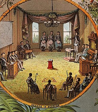 National Grange of the Order of Patrons of Husbandry - Grange in session, 1873