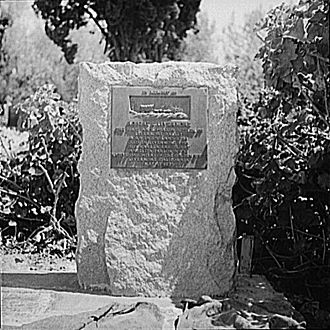 """Robert Livermore - Livermore's grave marker in 1942, during the time when his real grave was """"lost""""."""
