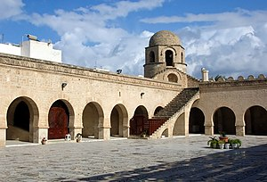 Great Mosque of Sousse - View of the domed kiosk from the sahn