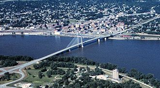 Burlington, Iowa - Great River Bridge in Burlington