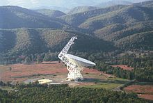 The Robert C Byrd Green Bank Radio Telescope Gbt Has A Collecting Area Of 2 3 Acres 0 93 Ha Which Focuses Waves Falling On It Onto Sensitive