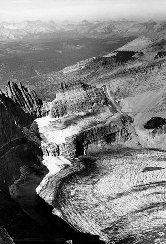 Grinnell Glacier - Image: Grinnell Glacier 1938