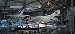 Grumman F4F Wildcat, Douglas SBD Dauntless, Douglas A-4C Skyhawk, and Boeing F4B in Smithsonian.jpg