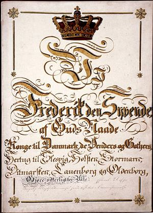 Constitution of Denmark - The Danish Constitutional Act of 1849
