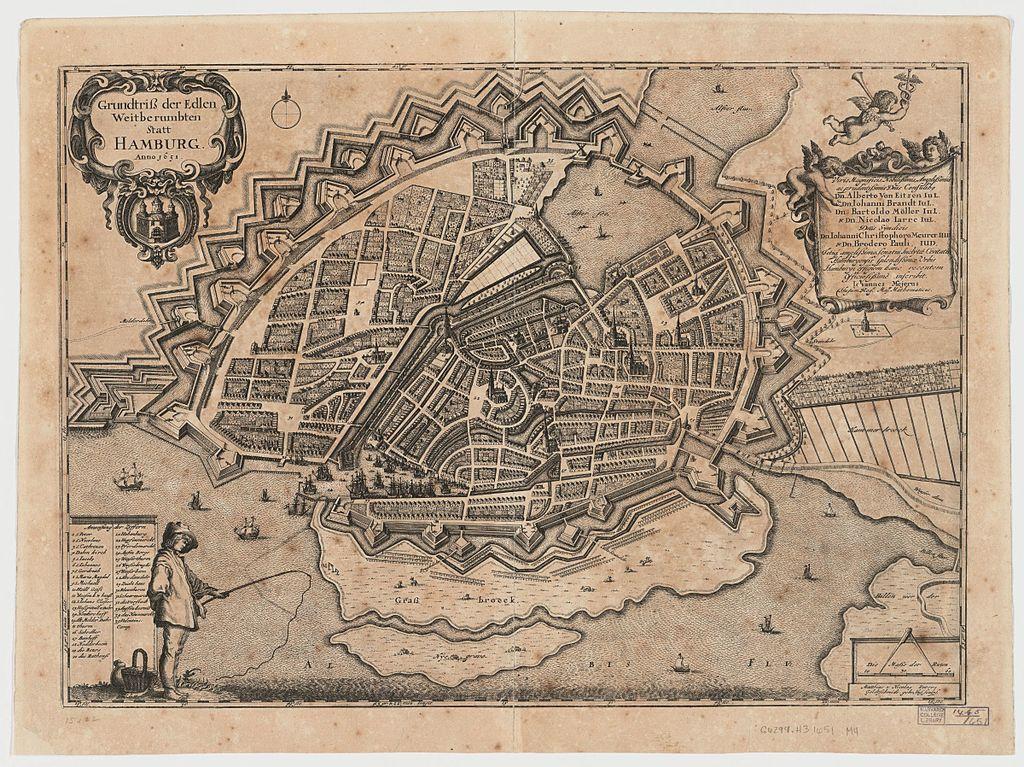 Abbildung der Stadt Hamburg im Jahr 1651