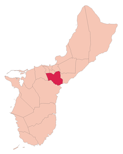 Location of Chalan Pago-Ordot within the Territory of Guam.