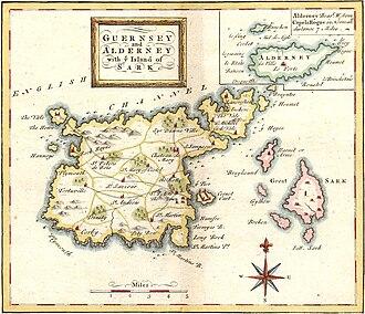 Braye du Valle, Guernsey - Guernsey and Alderney with Island of Sark 1748
