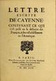 Guillaume De Luynes - Lettre escrite de Cayenne (1653) Titre.png