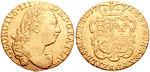 La photo montre le côté face (à la gauche) et le côté face (à la droite) d'une pièce de monnaie en or.