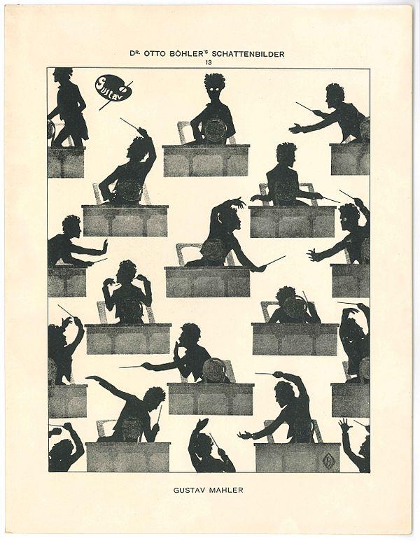 Caricatures de nos chers compositeurs/interprètes/critiques 600px-Gustav_Mahler_silhouette_Otto_Böhler