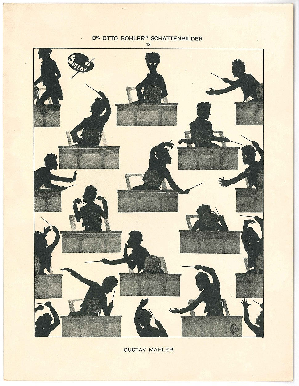 Gustav Mahler silhouette Otto Böhler