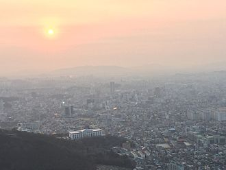 Gwangju - This picture was taken from a hill overlooking Gwangju