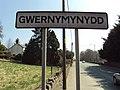 Gwernymynydd sign, A494 - DSC05507.JPG