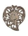 Hängsmycke av silver med Jesusprofil, 1700-tal - Hallwylska museet - 110593.tif