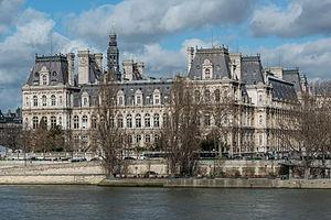 Hôtel de Ville, Paris 4e, South View 140207 2