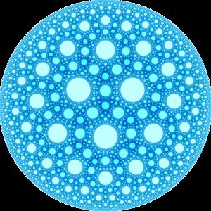 Order-3-4 heptagonal honeycomb - Image: H3 734 UHS plane at infinity