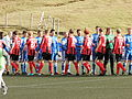HB Tórshavn and FC Suðuroy players before the 23-09-2012 match.JPG