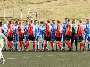2012 Faroe Islands Premier League - FC Suðuroy vs. HB Tórshavn, just before the match on 23 September 2012. HB won 4-0.