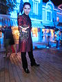 HK Disneyland USA Main Street Halloween night staff artist Oct-2013 010.JPG