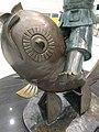 HK Lok Ma Chau MTR Station 落馬洲站 Bauhinia Rider sculpture Chinese Scuptor 蔣朔 Jiang Shuo Bronze statue March 2016 Concourse Level 3 DSC fish head.JPG