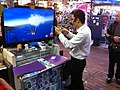 HK SSP 深水埗 Sham Shui Po 桂林街 Kweilin Street 鴨寮街 Apliu Street Nov-2013 TV set video games demo visitors.JPG