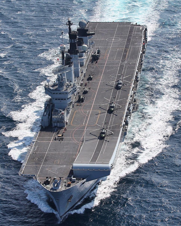 HMS Illustrious at Speed MOD 45155641