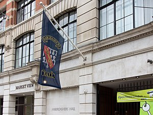 Worshipful Company of Haberdashers - Haberdashers' Hall with flag