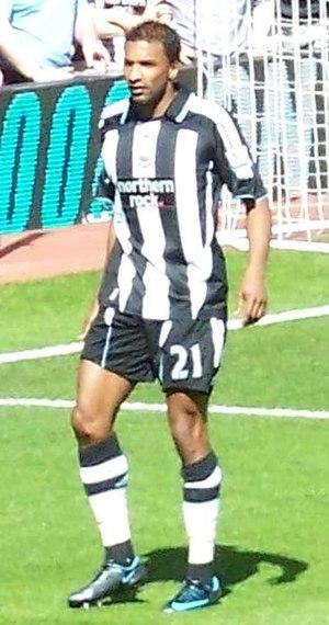 Habib Beye - Beye playing for Newcastle United