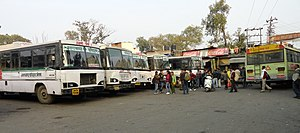 Haldwani roadways bus station