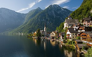 View of Hallstatt from the lake