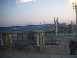 Hanford station - View from the train
