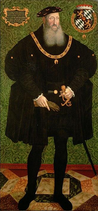 Frederick II, Elector Palatine - Portrait by Hans Besser, 1545.