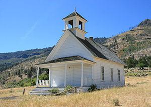 Summer Lake, Oregon - One-room Harris school built in 1890