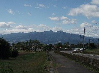 Mount Haruna - Haruna volcano from the east