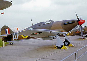 No. 607 Squadron RAF - Hawker Hurricane I operated by 607 Squadron in 1940 and preserved postwar in period marks including the unit's AF code letters.