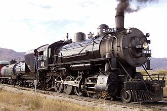 Heber Valley Railroad - Union Pacific 618, a 2-8-0 Baldwin built in 1907.