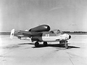 Heinkel He 162 - He 162 120230 during post-war trials, USA.