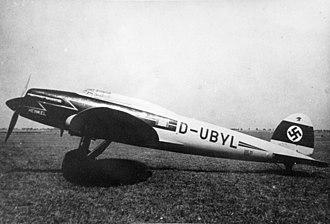 Heinkel He 70 - Image: Heinkel He 70