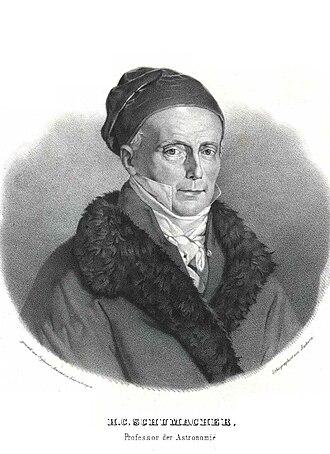 Astronomische Nachrichten - The founding editor Heinrich Christian Schumacher (1780-1850)