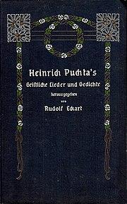 Heinrich Puchtas - Geistliche Lieder und Gedichte, Ansbach, 1908.jpg